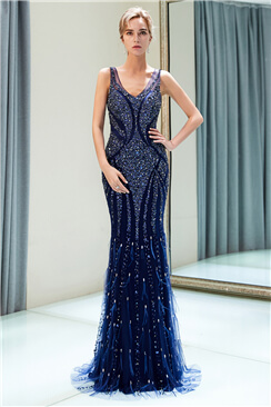 evening dress navy