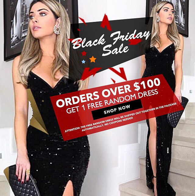 free dress for orders 100+